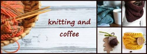 knitting and coffe
